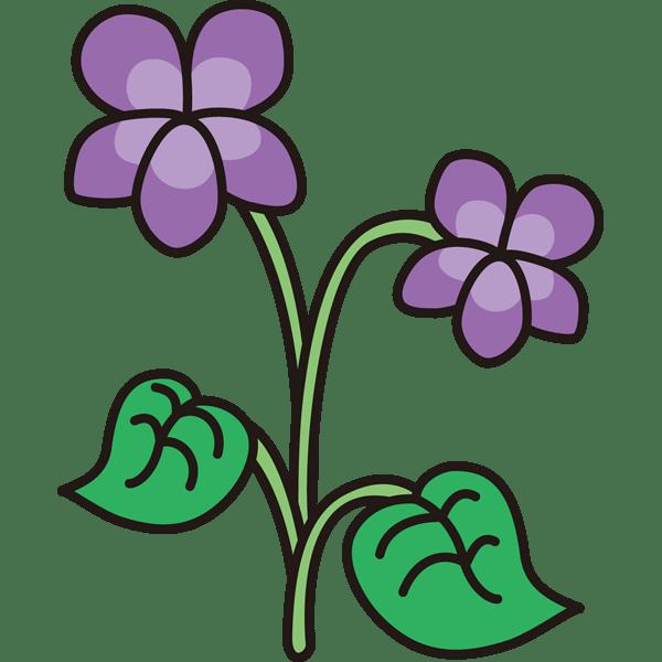 植物 すみれカラー 無料イラストpowerpointテンプレート配布