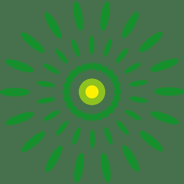 年中行事 花火(緑色)(カラー)
