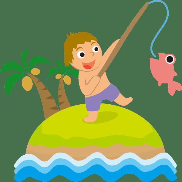 年中行事 釣り(子供)(カラー)