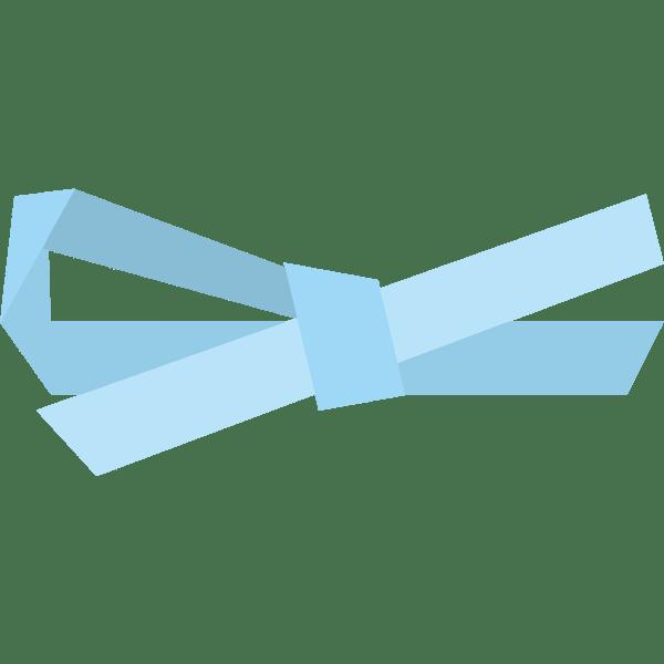 装飾 リボン(水色)(カラー)