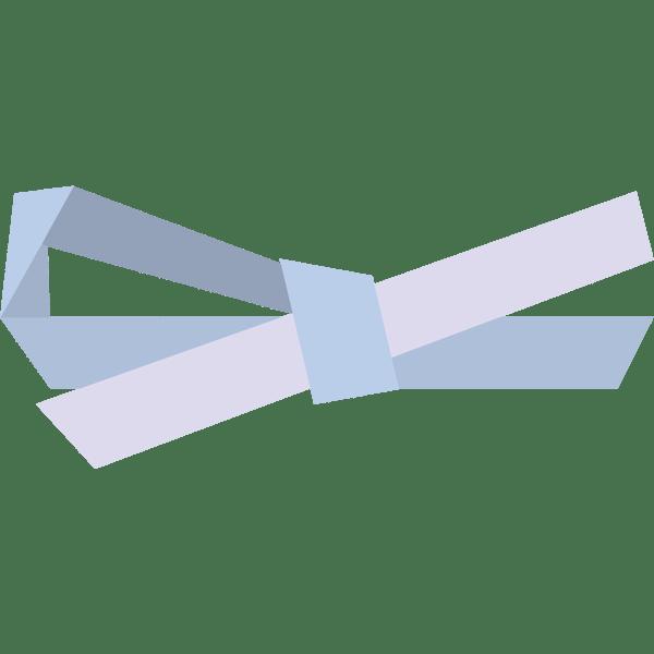 装飾 リボン(青色)(カラー)