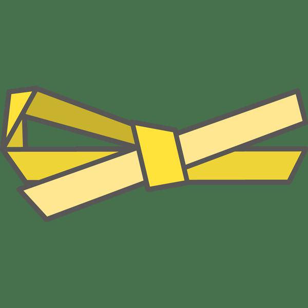 装飾 リボン(黄色)(カラー)