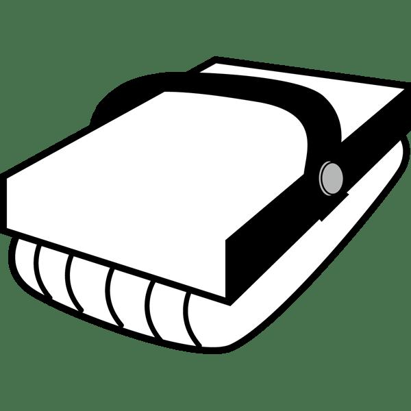 学校 黒板消し(モノクロ)