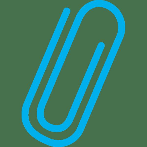 ビジネス クリップ(水色)(カラー)