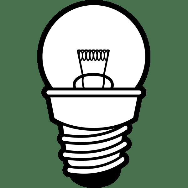 学校 豆電球(モノクロ)