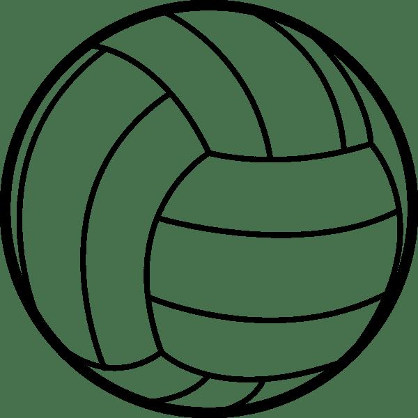 スポーツ バレーボール(モノクロ)