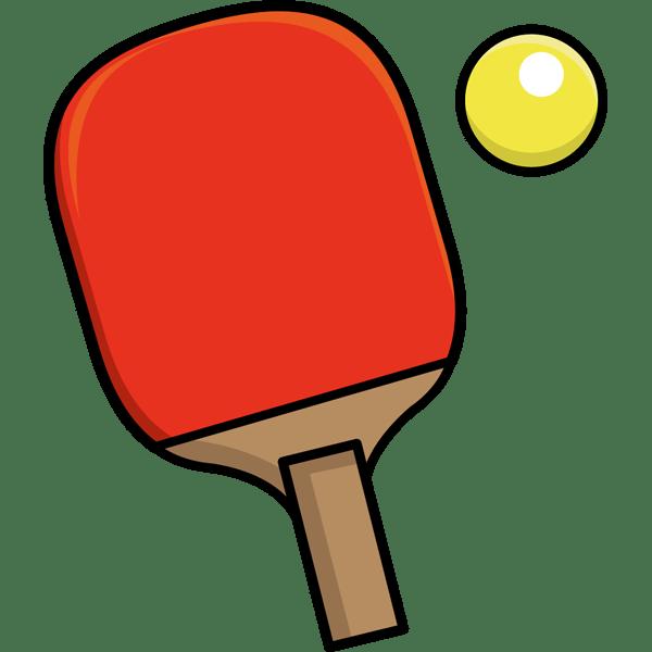 スポーツ 卓球 ラケット ボール カラー 無料イラスト Powerpointテンプレート配布サイト 素材工場