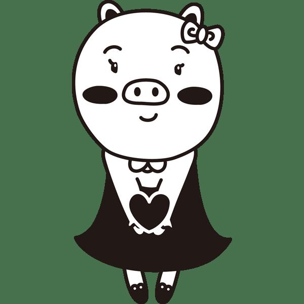 年中行事 バレンタインプレゼント(女の子)(モノクロ)