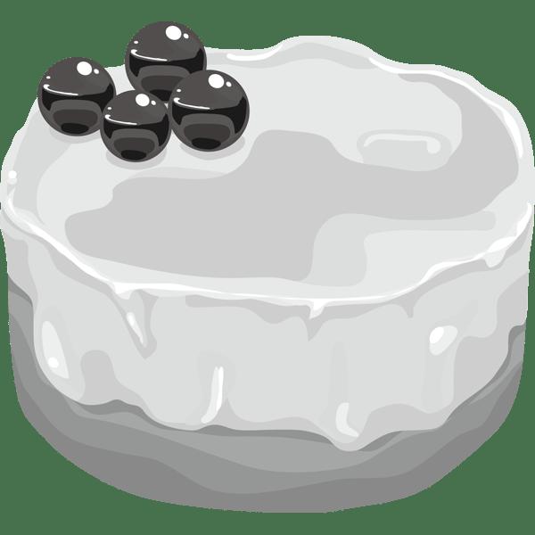 年中行事 ケーキ(ベイクドショコラ・白)(モノクロ)