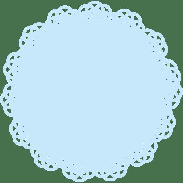 装飾 水色のレース(カラー)