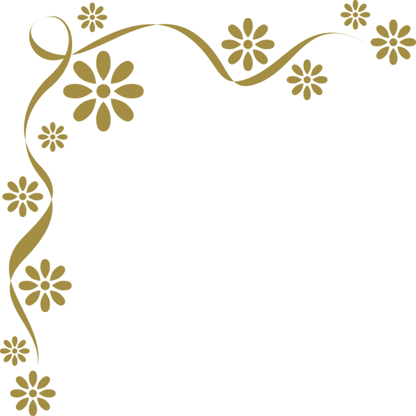 装飾 オーナメント(花)(カラー)