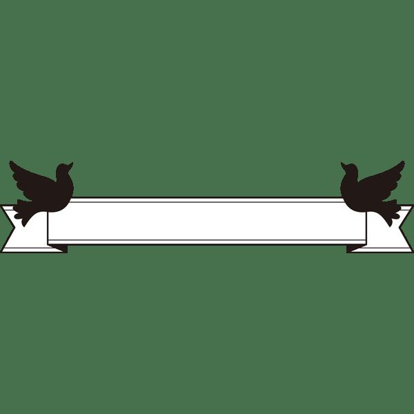 装飾 オーナメント(ハト)(モノクロ)