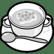 食品 スープ(コーンポタージュ)(モノクロ)
