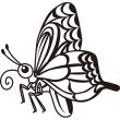 動物 アゲハ蝶(モノクロ)
