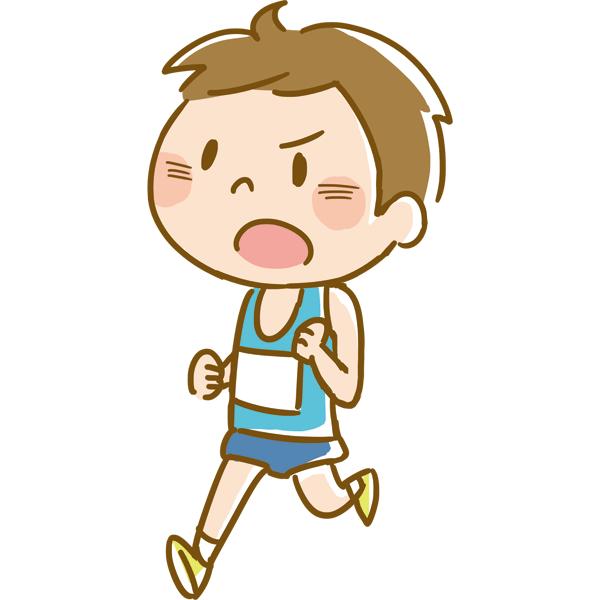 競技 マラソンをする男性 無料イラストpowerpointテンプレート配布