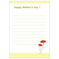母の日 レター 便箋 ストライプ