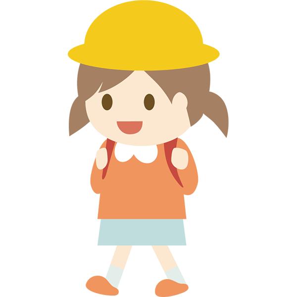 小学生の女の子 歩く 無料イラストpowerpointテンプレート配布サイト