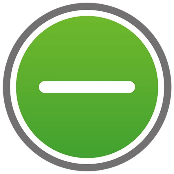 アイコン マイナス(ボタン・引く・-・緑)