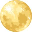 満月 金色(ゴールド)