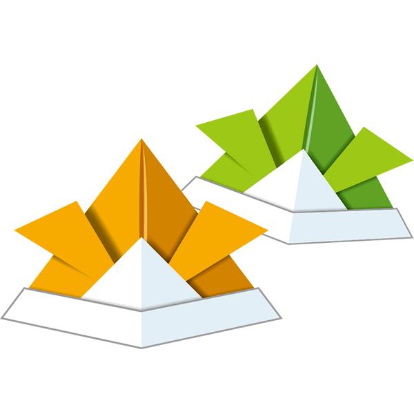 折り紙 兜2色 無料イラストpowerpointテンプレート配布サイト