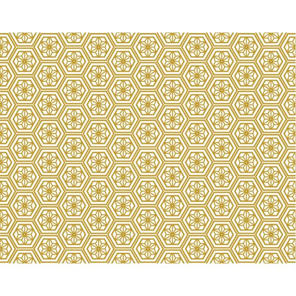 和風素材 パターン和柄 ゴールド 無料イラストpowerpoint