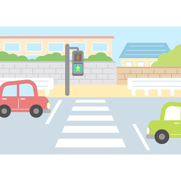 背景画像 横断歩道 街並み 無料イラストpowerpointテンプレート配布