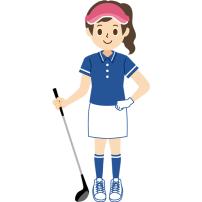 ゴルフ 女性 正面