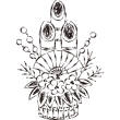 門松 筆タッチ線画