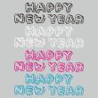 手書き文字 HAPPY NEW YEAR ライン