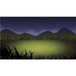 バーチャル背景画像 夜の草原