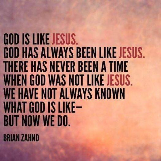 God is like Jesus