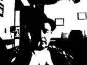 webcam black and white + Pop art