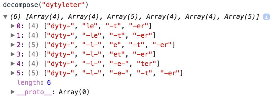 リパライン語単語分解