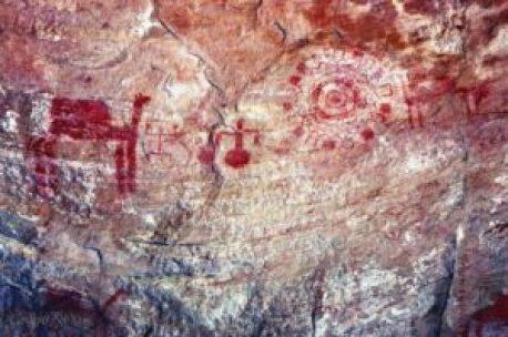 Pinturas de artefatos antigos descobertos na Índia