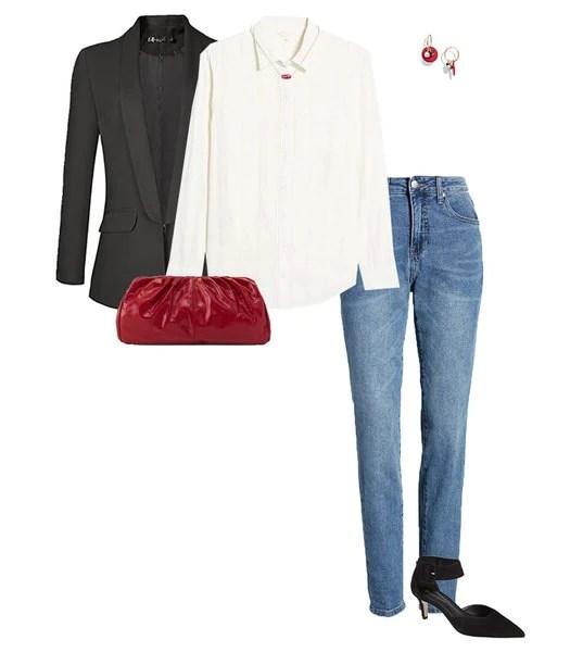Traje de jeans de mamá |  40plusstyle.com