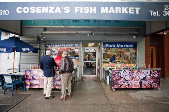 New york meat & fish market, corp. Cosenza S Fish Market Bronx Little Italy Arthur Avenue