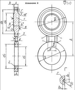 Заглушки поворотные АТК 26-18-5-93 исп.3 чертеж