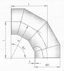 Отводы секционные ОСТ 36-21-77 чертеж