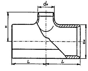 Тройники для нефтепроводов ТШС чертеж