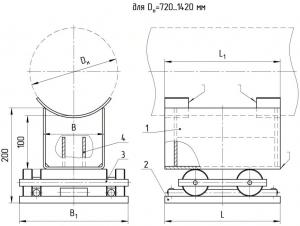 Опоры двухкатковые Т20 серия 4.903-10, выпуск 5 чертеж
