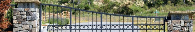 Сдвижные автоматические ворота.