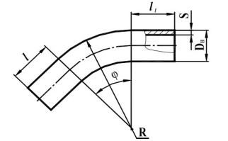 Гнутые отводы (ГО) и кривые вставки по ГОСТ 24950-81