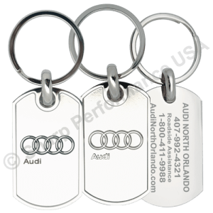 Item # K0025 - Custom AUDI Dealer Promotional Keychain - 3D Logo