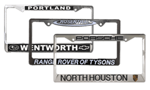 Sharp Performance License Plate Frames