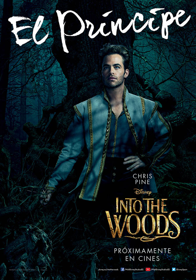 Cartel personaje Chris Pine en Into the Woods