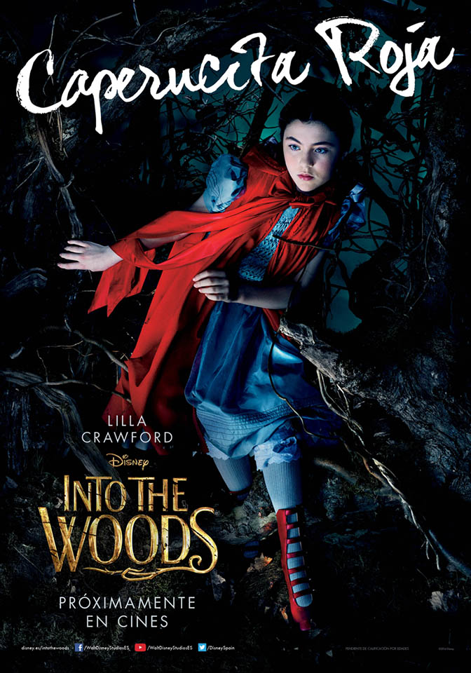 Cartel personaje Lilla Crawford en Into the Woods