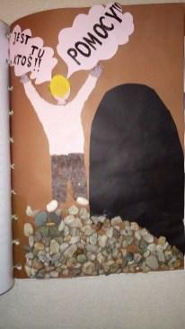 Okładkę i ilustracje do książki Wiktora Matuszka wykonała Malwina Kędroń z kl. 5c.