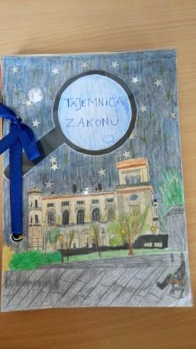 Okładka książki Michała Englerta została wykonana przez jego koleżankę z klasy - Olgę Filipowicz (II miejsce).