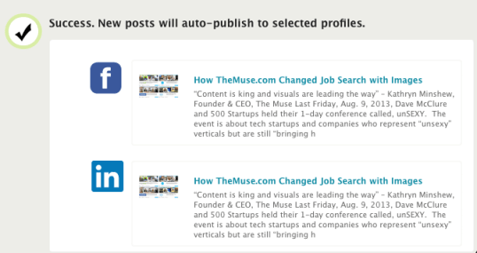 auto-publish blog to LinkedIn