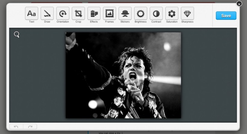 Select effect in symphony image publishing